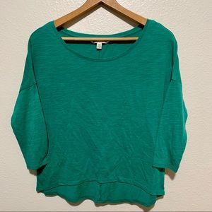 AEO Green 3/4 Sleeve Top